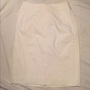 NWT WHBM perfect form white skirt
